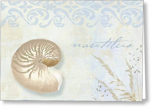 Sand And Sea Greeting Cards - She Sells Seashells I Greeting Card by Mindy Sommers
