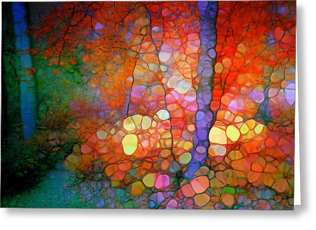 Forest Floor Digital Art Greeting Cards - She Stands Alone Greeting Card by Tara Turner