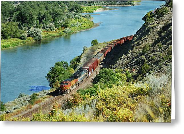 Bnsf Greeting Cards - She will be coming Greeting Card by Michael Peychich