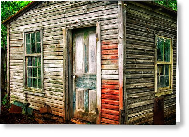 Outbuildings Greeting Cards - Shed at Abandoned Farm Greeting Card by Carolyn Derstine