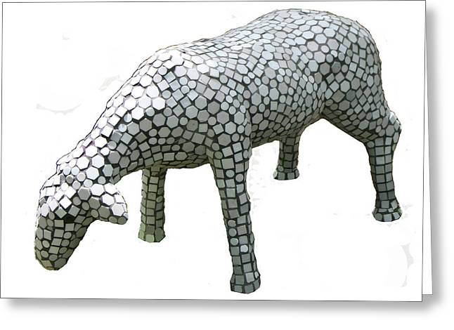 Sheep Sculptures Greeting Cards - Sheep Greeting Card by Katia Weyher