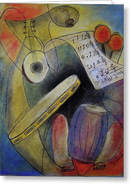 Thomas Pastels Greeting Cards - Sheet Music Greeting Card by Thomas J Norbeck