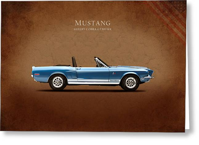 Mustang Greeting Cards - Shelby Cobra GT500 KR Greeting Card by Mark Rogan