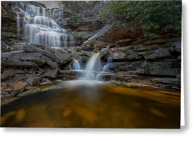 Ethereal Waterfalls Greeting Cards - Sheldons Falls Greeting Card by Bill Wakeley