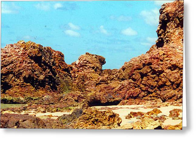 Kim Photographs Greeting Cards - Shelly Beach Rocks Greeting Card by Kim Magee  Photography