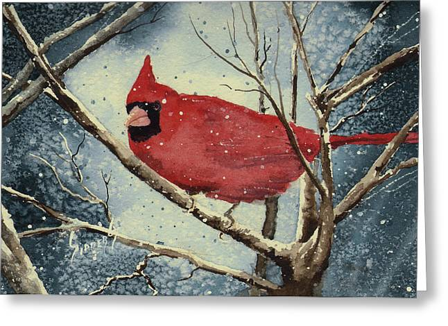 Shelly's Cardinal Greeting Card by Sam Sidders