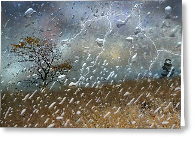 Lightning Landscapes Greeting Cards - Shelter From The Storm Greeting Card by Ed Hall