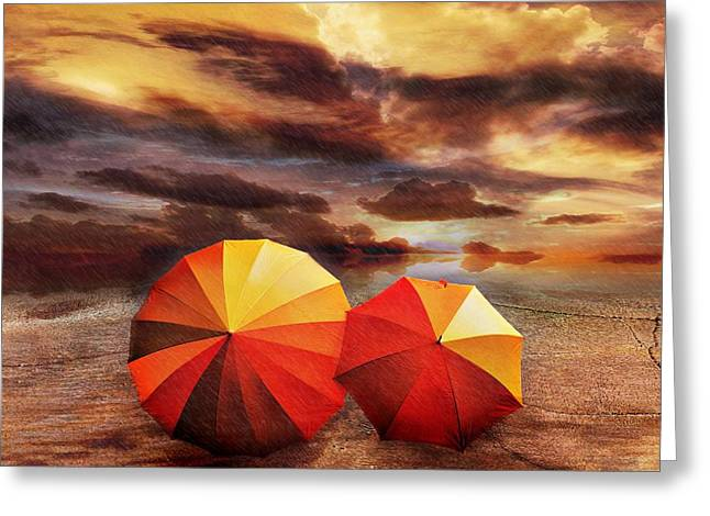 Umbrella Greeting Cards - Shelter Greeting Card by Photodream Art