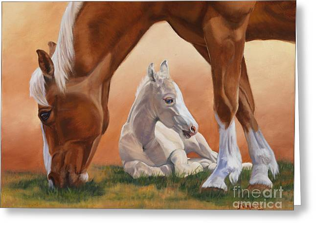 Danielle Smith Greeting Cards - Sheltered Greeting Card by Danielle Smith