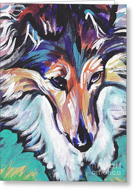 Sheltie Luv Greeting Card by Lea S