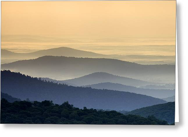 Shenandoah National Park Greeting Cards - Shenandoah National Park Mountain Scene Greeting Card by Brendan Reals