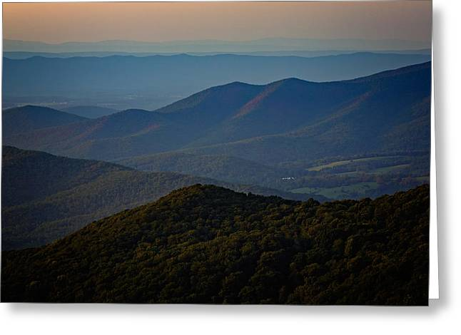 Ridges Greeting Cards - Shenandoah Valley at Sunset Greeting Card by Rick Berk