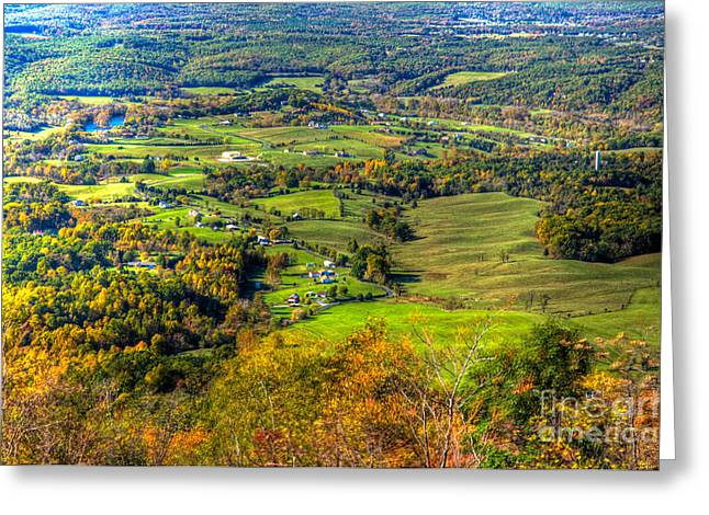 Shenandoah National Park Greeting Cards - Shenandoah Valley I Greeting Card by Irene Abdou