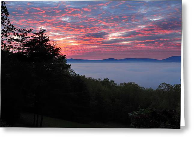 Tangerines Greeting Cards - Shenandoah Valley Morning Serenity Greeting Card by Lara Ellis