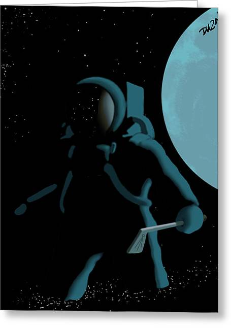 Shepard In The Rough Greeting Card by Tom Dickson