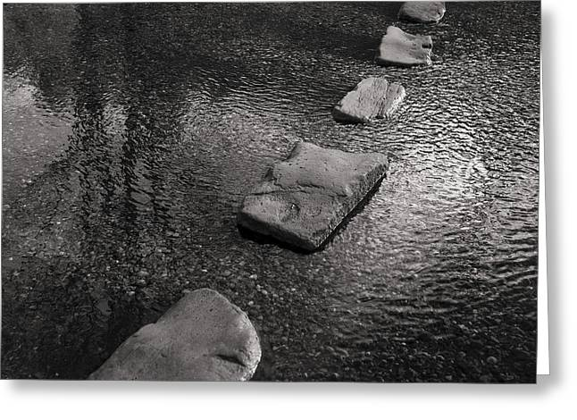 Stepping Stones Greeting Cards - Sherbrook Stepping Stones  Greeting Card by Ron Evans