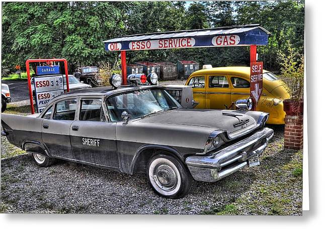 Esso Greeting Cards - Sheriff Car Greeting Card by Todd Hostetter