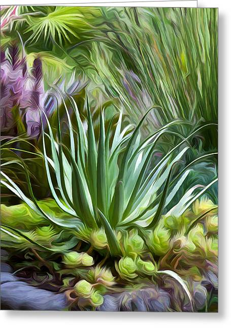 Saxon Holt Greeting Cards - Sherries Spider Agave Greeting Card by Saxon Holt