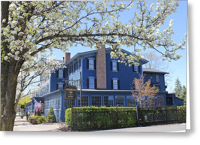 Skaneateles Greeting Cards - Sherwood Inn Skaneateles NY in the Spring Greeting Card by Jennifer  Carter