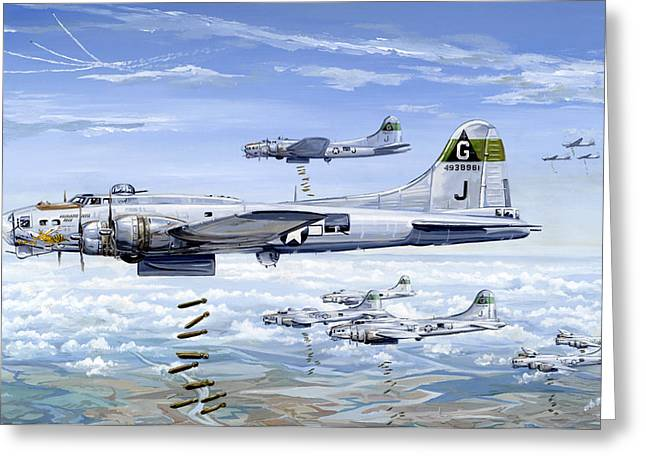 Military Planes Greeting Cards - Shes A Honey 1 Greeting Card by Charles Taylor