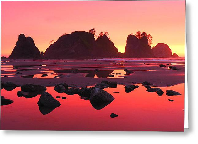 Shi Shi Sunset Greeting Card by Ryan Scholl