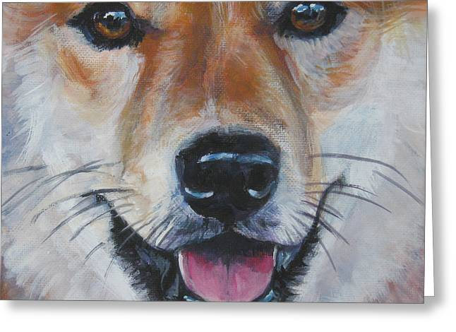 Inu Greeting Cards - Shiba Inu smile Greeting Card by Lee Ann Shepard