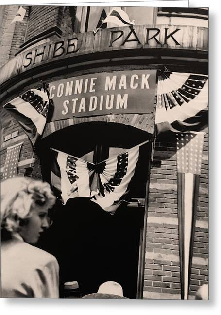 Sports Arenas Greeting Cards - Shibe Park - Connie Mack Stadium Greeting Card by Bill Cannon