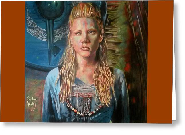 Maiden Pastels Greeting Cards - Shield-maiden Lagertha Greeting Card by Gordon Irving