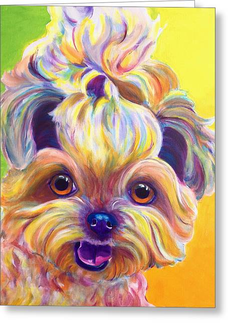 Shih Tzu - Bloom Greeting Card by Alicia VanNoy Call