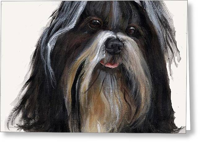 Shih Tzu Greeting Card by Jimmie Trotter