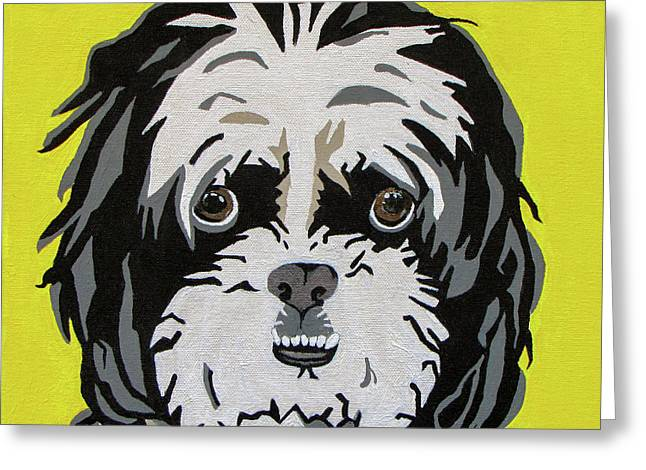 Children Decor Greeting Cards - Shih tzu Greeting Card by Slade Roberts