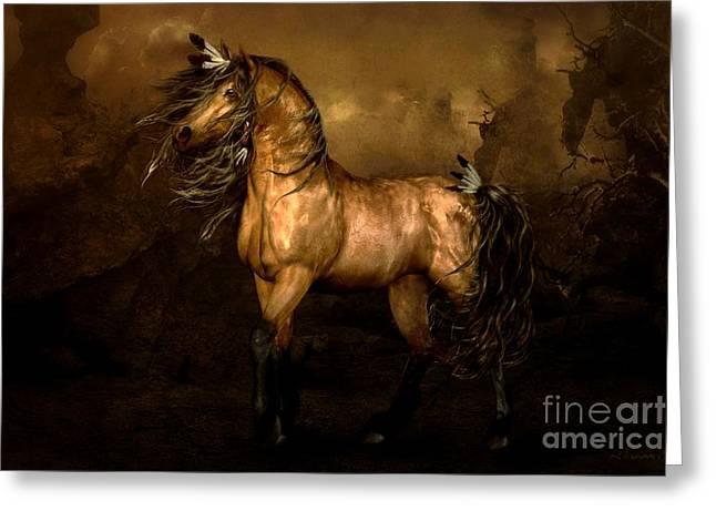 Shikoba Choctaw Horse Greeting Card by Shanina Conway