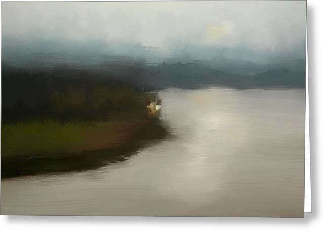 Tennessee River Paintings Greeting Cards - Shiloh River View Greeting Card by Jai Johnson