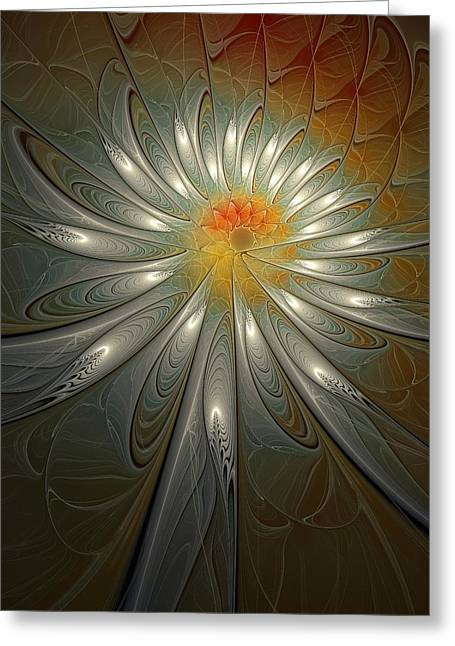 Apophysis Greeting Cards - Shimmer Greeting Card by Amanda Moore