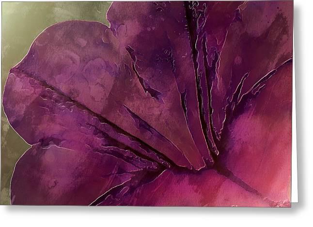 Shimmer Greeting Card by Krissy Katsimbras