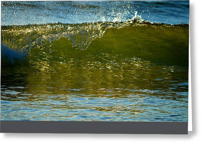 Effervescent Greeting Cards - Cascade Shimmer Greeting Card by Dianne Cowen