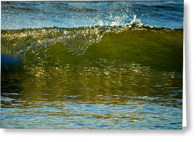 New England Ocean Greeting Cards - Shimmering Cascade Greeting Card by Dianne Cowen