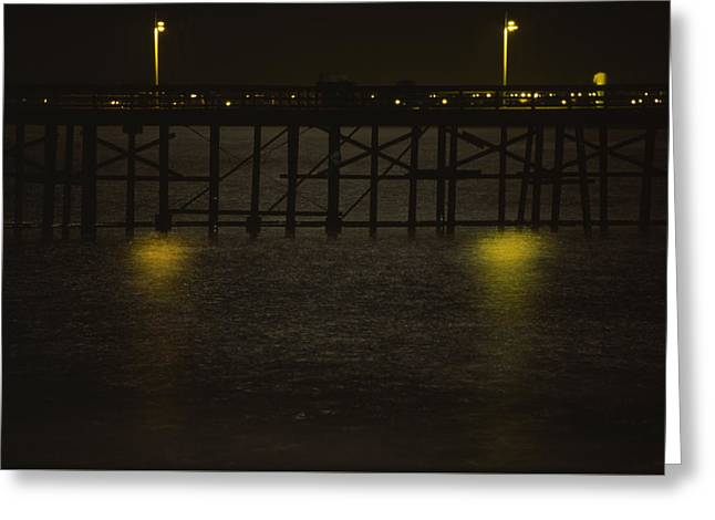 Shimmering Sea - Ventura Pier Greeting Card by Soli Deo Gloria Wilderness And Wildlife Photography