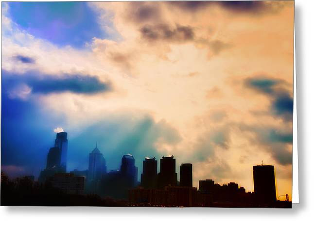 Philadelphia Digital Greeting Cards - Shine a Light Greeting Card by Bill Cannon