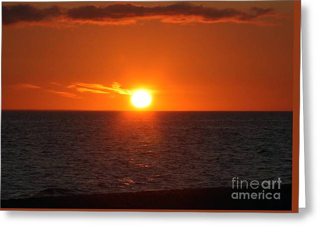 Gloaming Greeting Cards - Shine bright onto the sea Greeting Card by Brian Flannery