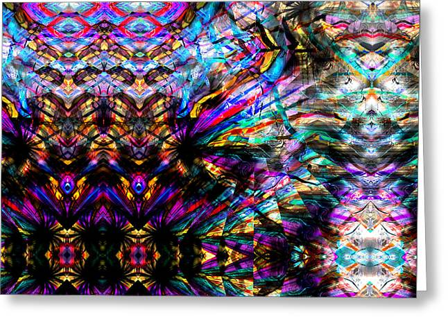Surreal Geometric Greeting Cards - Shine On You Crazy Shaman Revisited Greeting Card by Stephen  Killeen