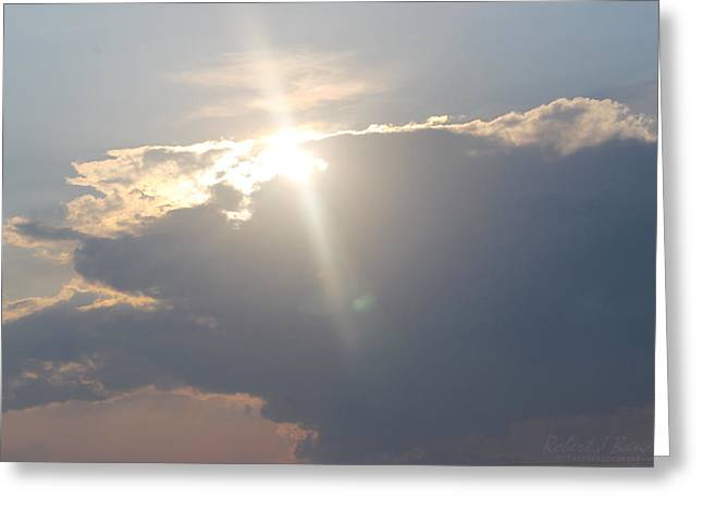 Usa Photographs Greeting Cards - Shining Bright Over Clouds Greeting Card by Robert Banach