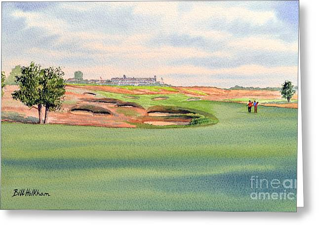 Us Open Golf Greeting Cards - Shinnecock Hills Golf Course Greeting Card by Bill Holkham