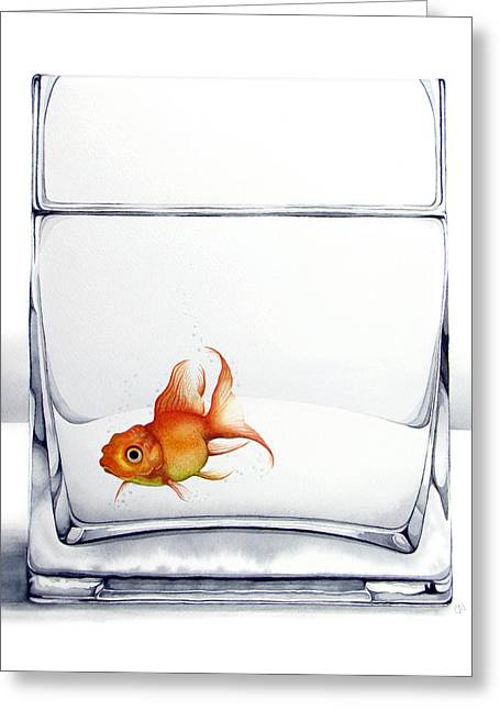 Best Sellers -  - Glass Vase Greeting Cards - Shiny Greeting Card by Christina Meeusen