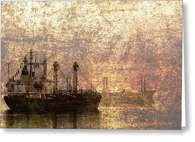 Skip Nall Greeting Cards - Ship at Anchor Greeting Card by Skip Nall