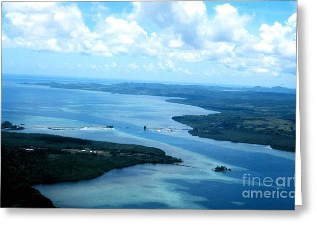 Noaa Greeting Cards - Ship Channel in Palau  Greeting Card by Celestial Images