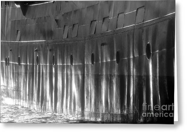 Port Holes Greeting Cards - Ship side Greeting Card by David Lee Thompson
