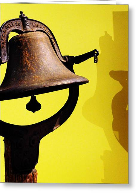 Singleton Greeting Cards - Ships Bell Greeting Card by Rebecca Sherman