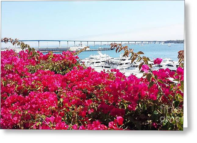 Bloosom Greeting Cards - Ships hidden in the flowers bush  Greeting Card by Jasna Gopic