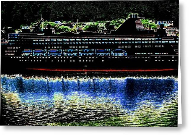 Boat Cruise Digital Greeting Cards - Shipshape 8 Greeting Card by Will Borden
